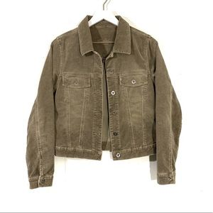 Silver Jeans Tan Corduroy Button Up Jacket